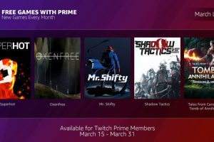 Twitch Prime限定ゲーム無料配布プログラム「Free Games with Prime」を発表!3月は『Mr.Shifty』や『SUPERHOT』などを収録