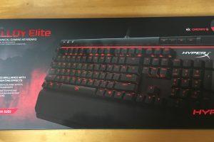 【デバイスレビュー】Kingston ゲーミングキーボード 赤軸 HyperX Alloy Elite