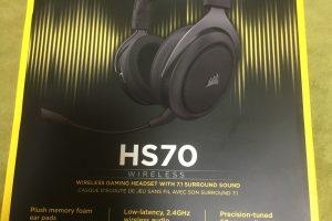 【デバイスレビュー】Corsair HS70 ワイヤレス ゲーミングヘッドセット-Carbon-